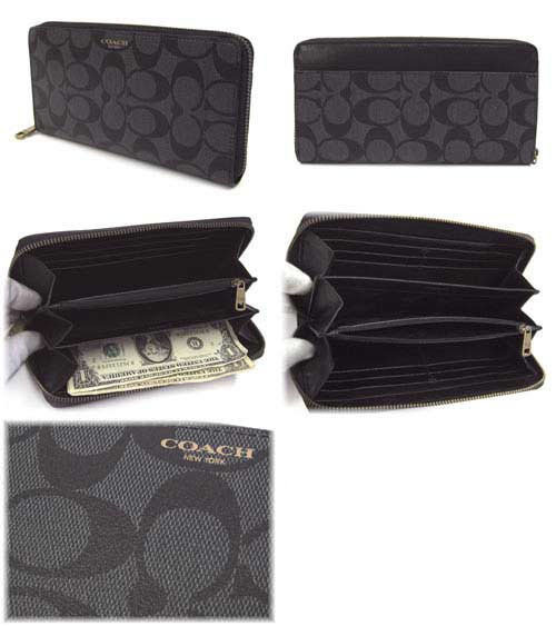 Grandseller Coach Coach Mens Wallets Purse Bleecker Signature