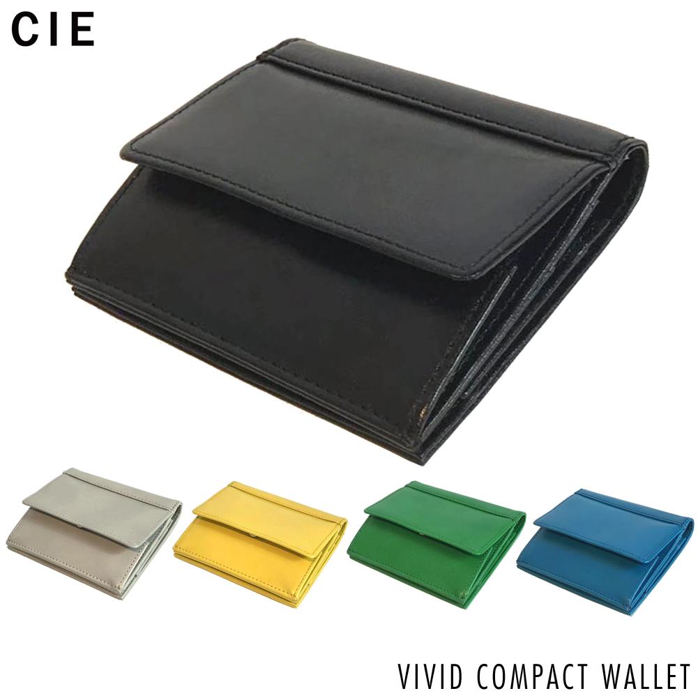 財布 二つ折り メンズ レディース 本革 革 コンパクト 小銭入れ カードケース 誕生日 父の日 母の日 プレゼント用 ギフト CIE VIVID COMPACT WALLET[061800]