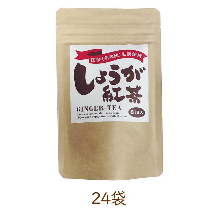明山茶業 しょうが紅茶 ティーバッグ (2g×8P)×24袋 紅茶 生姜紅茶 しょうが 生姜 [区分A]