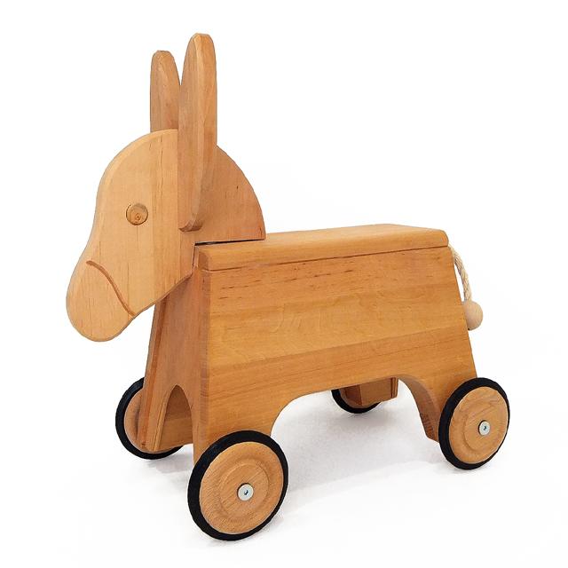 50%OFF木の 乗り物【シェルナー ドイツ製 ロバのデニーロ】0歳 1歳 男 女 木製 のりもの 幼児  高品質 201912rss50