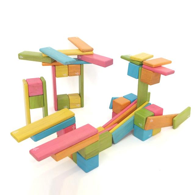 マラソン中全品ポイント5倍! 【Tegu マグネット積み木 オリジナルセット 52ピース】 知育玩具 4歳 5歳 6歳以上 大人にもおすすめ木の 木製玩具 おしゃれ 積木 磁石 クリスマス
