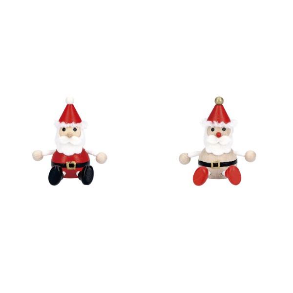 「おとぎの国」チェコからやってきた、木製クリスマストイ レスニー サンタクロース ハラチキ クリスマス Xmas 飾り 木 人形 チェコ製 マークス