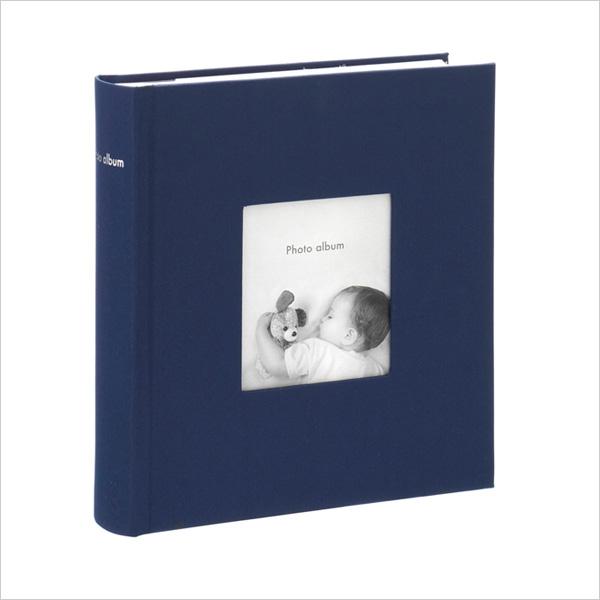 シンプルなデザインと豊富なカラーバリエーションが魅力 アルバム 中古 写真 大容量 ポストカードサイズ 200枚 収納可フォトフレームアルバム コルソグラフィア ネイビー マークス 売り出し