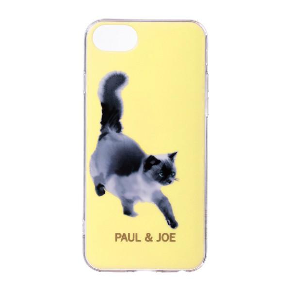 aa6841ede9 Smartphone cover back case PAUL & JOE black-and-white drawing cat lemon  ...