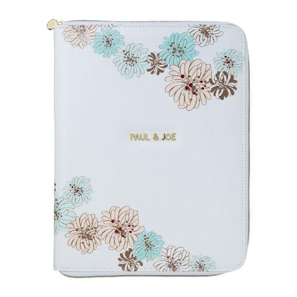 持っているだけでフェミニンな気分が高まるタブレットケース タブレットケース トレンド クリザンテーム ホワイト iPadケース インナーケース 春の新作続々 オフィス リモート 持ち歩き ポールジョー マークス おしゃれ かわいい