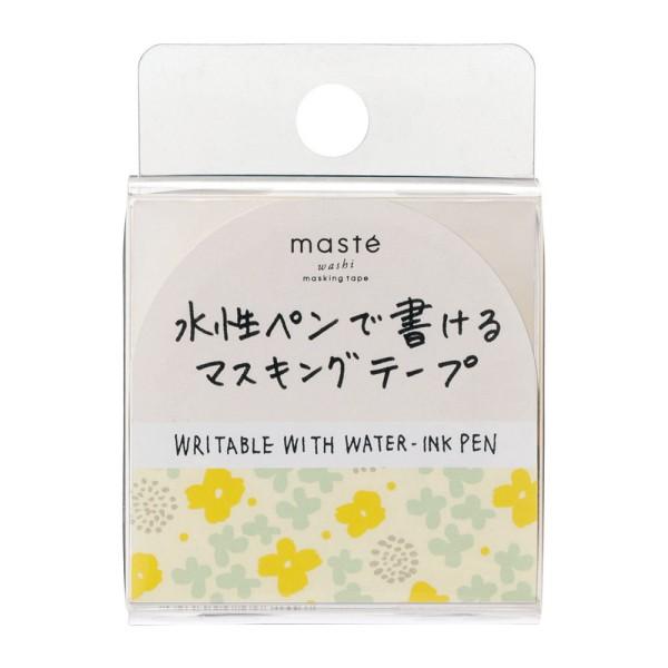 マスキングテープ 手帳 水性ペンで書けるマスキングテープ 小巻 「マステ」 フラワー ブルー 花 マーガレット 青 マークス