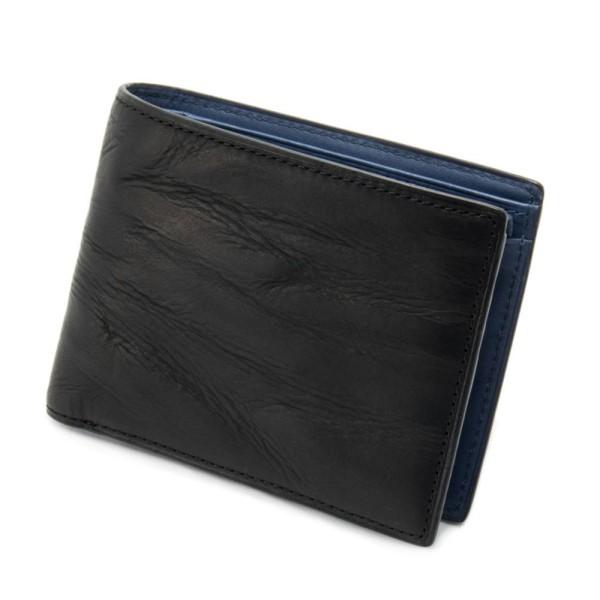財布 メンズ 本革 二つ折りウォレット ブラック チェンジ GRAPHIA グラフィア マークス オリジナル