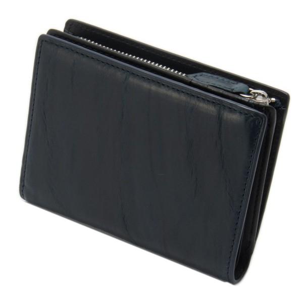 財布 メンズ 本革 二つ折りウォレット ネイビー チェンジ GRAPHIA グラフィア マークス オリジナル