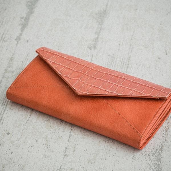 ロング ワレット/Letter/ピンク レディース 長財布