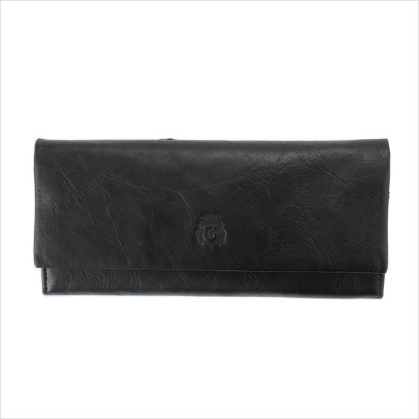 財布 メンズ 本革 ヌメ革 ロングウォレット ブラック GRAPHIA グラフィア マークス