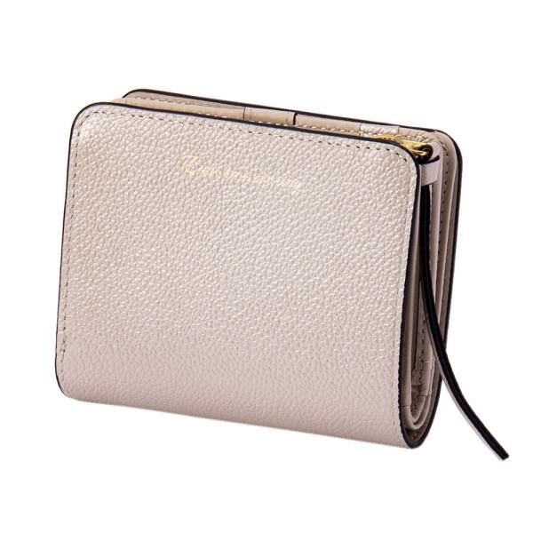 パール2 2つ折り ウォレット ミニ シルバー EDITO365 財布 おしゃれ かわいい 本革 レディース マークス