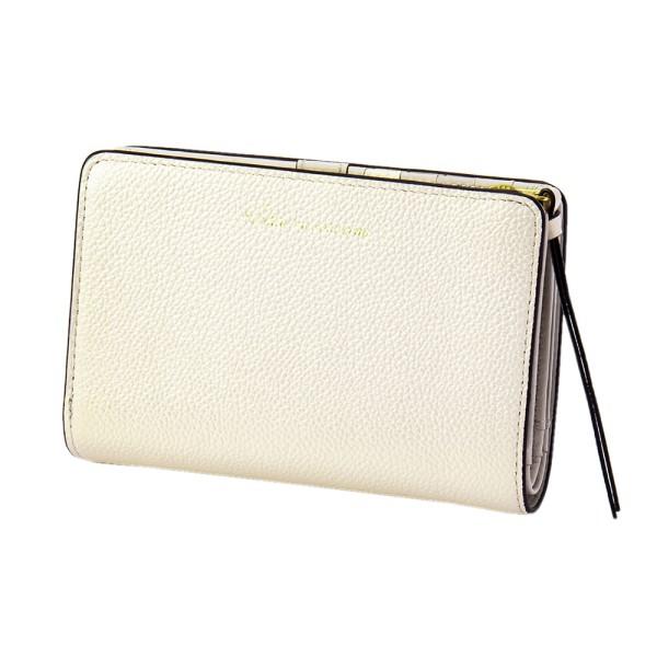 パール2 2つ折り ウォレット アイボリー EDITO365 財布 おしゃれ かわいい 本革 レディース マークス