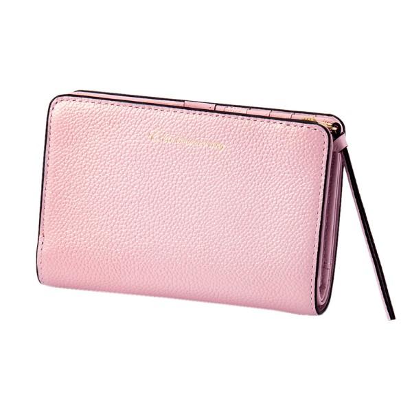 パール2 2つ折り ウォレット ピンク EDITO365 財布 おしゃれ かわいい 本革 レディース マークス