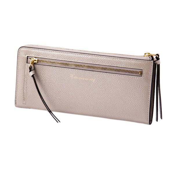 パール2 LFロング ウォレット シルバー EDITO365 長財布 おしゃれ かわいい 本革 レディース マークス