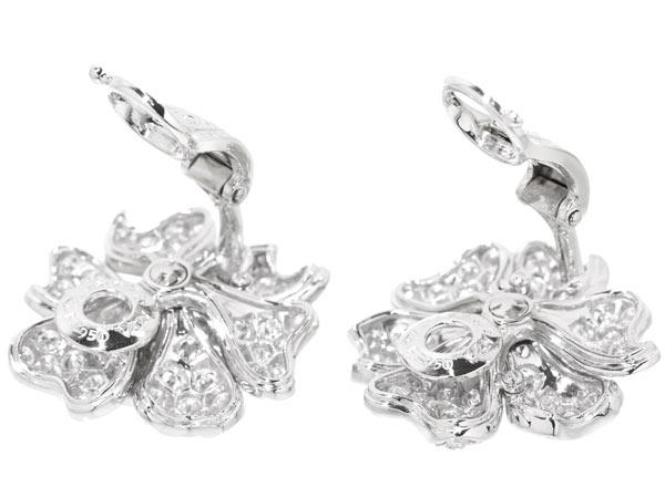 Van Cleef Arpels Earrings Pavot Sm Flower Diamond Platinum 950 Pt950 Cli Jewelry Earclips