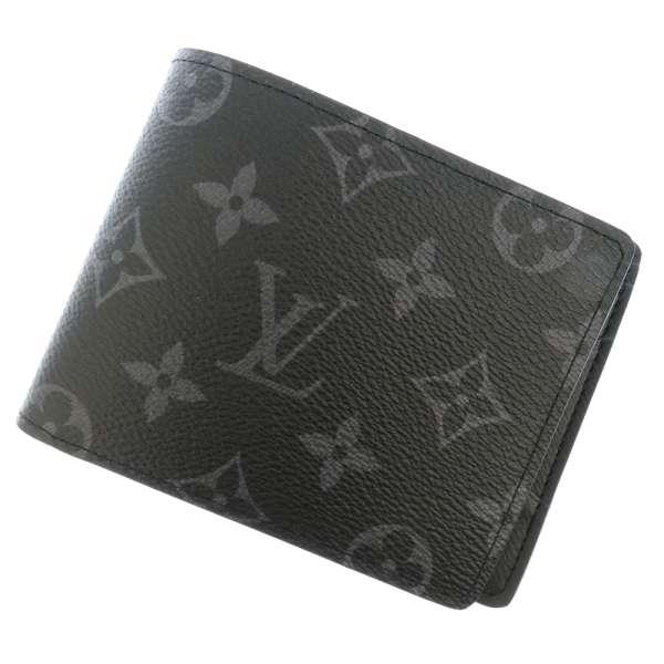 5cce4b12a0ee Louis Vuitton wallet Monogram-Eclipse wallet-multiple M61695 LOUIS VUITTON  Vuitton men wallet two bi-fold wallet