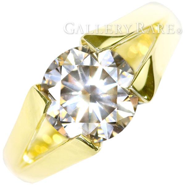ダイヤモンド リング ダイヤモンド 2.725ct K18YGイエローゴールド リングサイズ約11号 ジュエリー 指輪 ダイアモンド