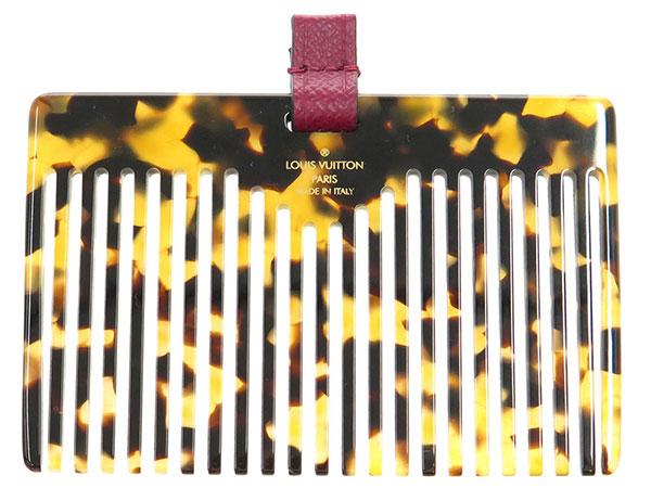 路易 · 威登的头发梳与案例会标 etuis,帕奴 M61485 路易 · 威登梳子玳瑁风格