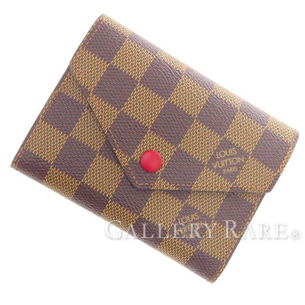 ルイヴィトン 財布 ダミエ ポルトフォイユ・ヴィクトリーヌ N41659 LOUIS VUITTON ヴィトン 三つ折り