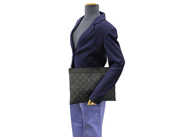 Louis Vuitton clutch bag monogram eclipse pochette Apollo M62291 LOUIS VUITTON Vuitton bag men