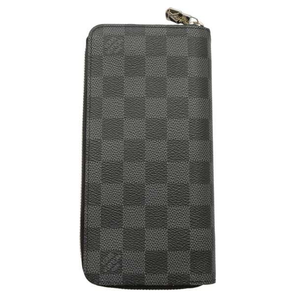 Louis Vuitton long wallet Damien grab fit zipper wallet, vertical N63095 LOUIS VUITTON Vuitton wallet mens
