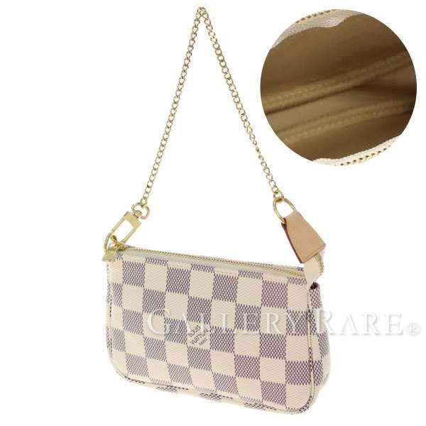 Louis Vuitton bag Damier Azur mini Pochette Accessoires or N58010 LOUIS  VUITTON Vuitton miniaxesally pouch handbags