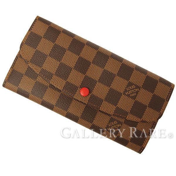 ルイヴィトン 長財布 ダミエ ポルトフォイユ・エミリー N63544 LOUIS VUITTON ヴィトン 財布