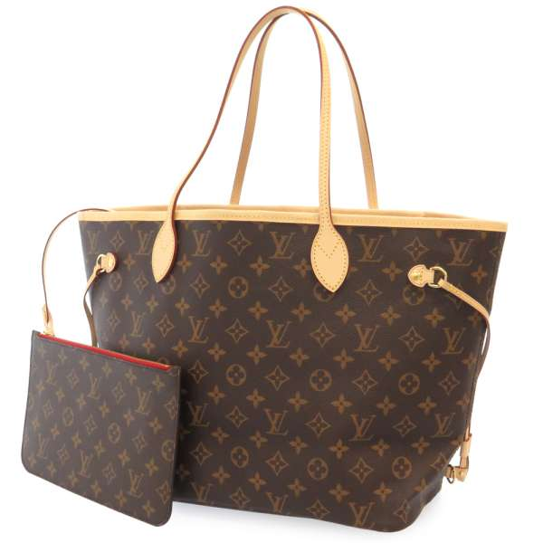 dafb52d254d9d LOUIS VUITTON Monogram Neverfull MM Monogram Canvas Cerise Tote Bag M41177  ...