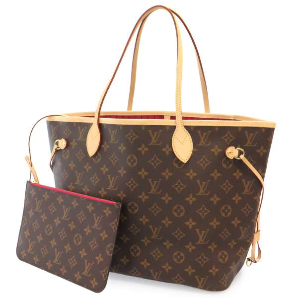 Louis Vuitton Monogram Neverfull Mm Canvas Pivoine Tote Bag M41178