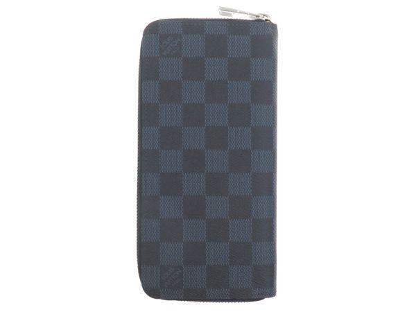 路易 · 威登长钱包双色格子钴-钱包垂直 N62240 路易威登路易威登钱包男人