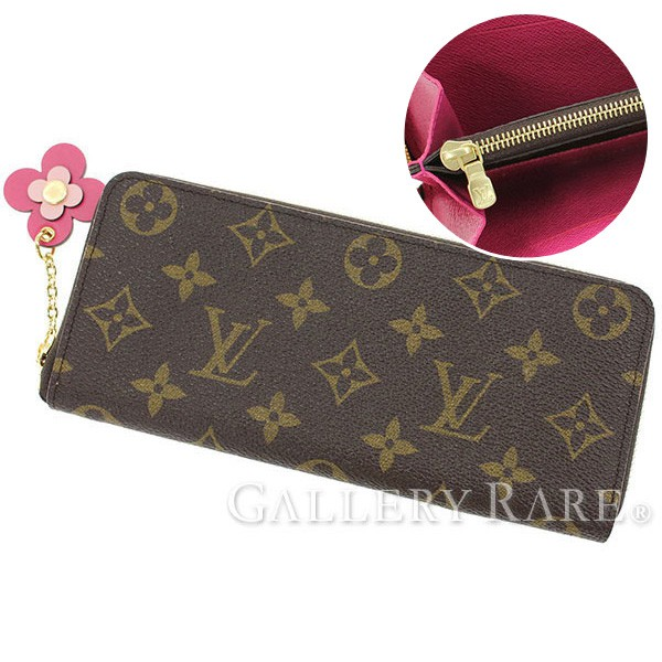 new style 54047 a5102 With Louis Vuitton wallet Clement's M64201 LOUIS VUITTON Vuitton wallet  flower charm