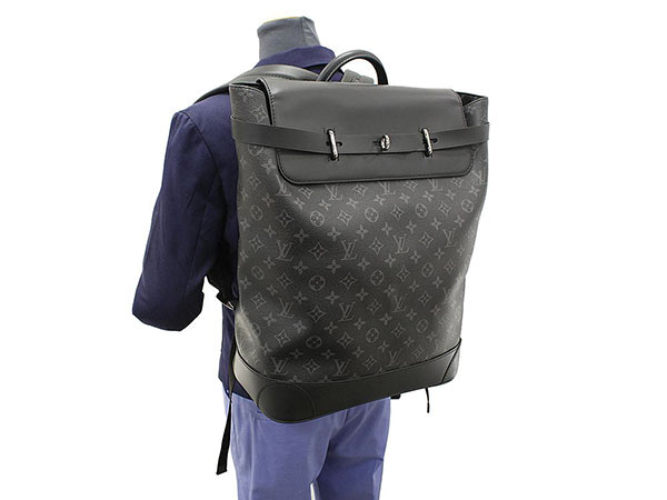 Louis Vuitton Rucksack Monogram Eclipse Steamer Backpack M44052 Bag Men