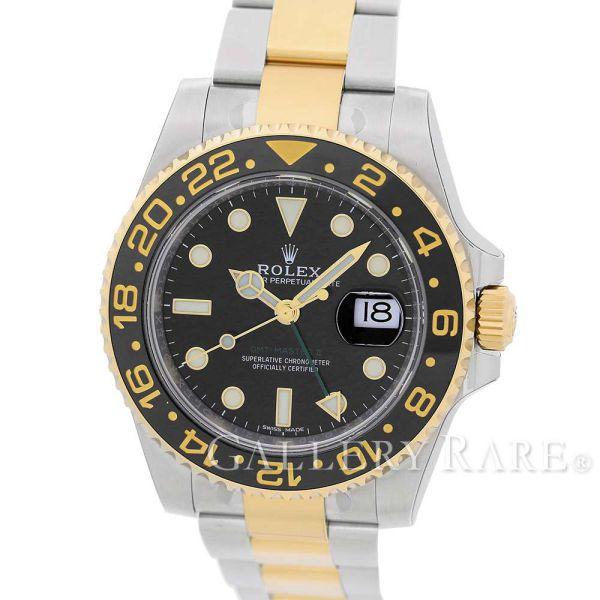 【最大3万円OFF★7/1(金) 0時~】 ロレックス GMTマスター 2 ランダムシリアル ルーレット SS×K18YGイエローゴールド 116713LN ROLEX 腕時計