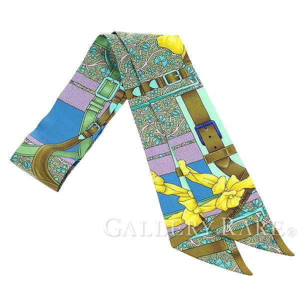 エルメス スカーフ ツイリー シルクツイル グラン・マネージュ/フルリ Grand Manege Fleuri HERMES シルクスカーフ 2017秋冬 リボン ベルト