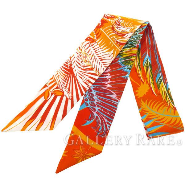 エルメス スカーフ ツイリー シルクツイル 不死鳥の神話 Mythiques Phoenix HERMES シルクスカーフ【安心保証】【中古】