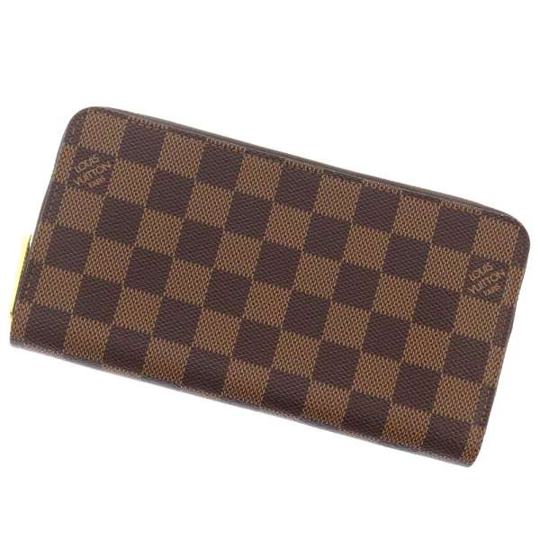 Louis Vuitton Damier Zippy Wallet Ebene Rose Ballerine N60046
