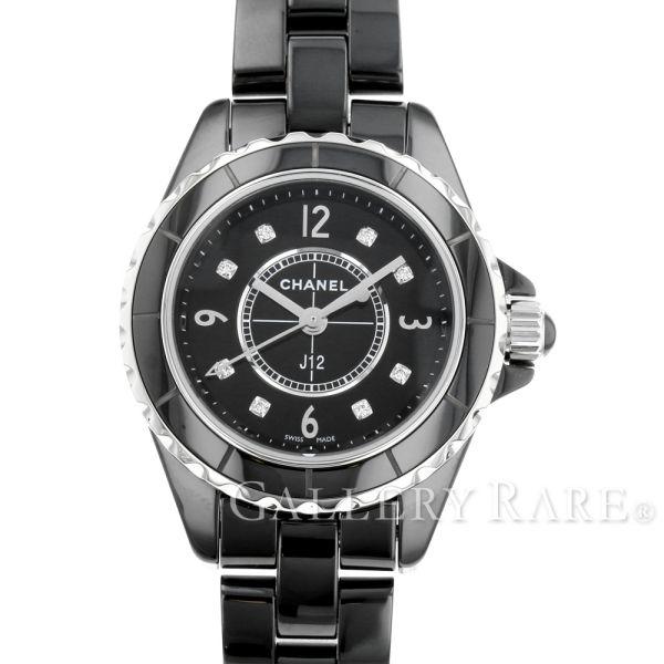 【最大3万円OFF★7/1(金) 0時~】 シャネル J12 29mm 8Pダイヤ ブラック セラミック H2569 CHANEL 腕時計