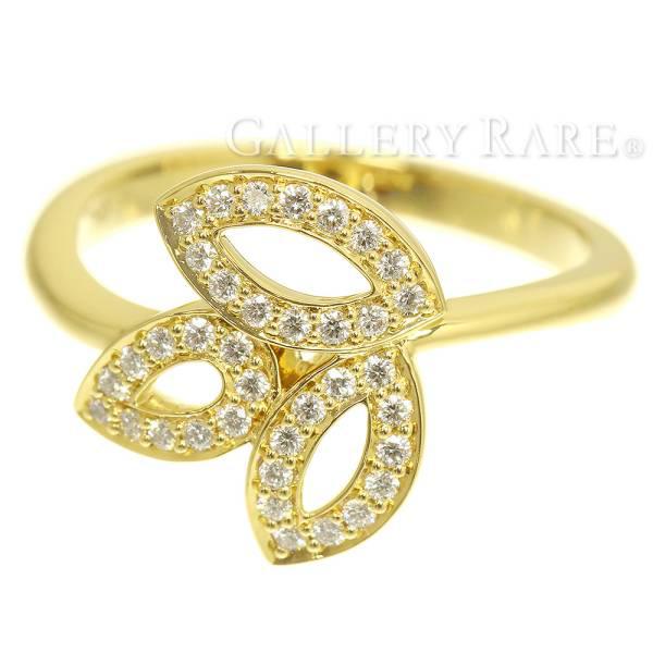 ハリーウィンストン リング リリークラスター ミニリング ダイヤモンド 計約0.18ct K18YGイエローゴールド サイズ約10号 HARRY WINSTON ジュエリー ハリー 指輪【安心保証】【中古】