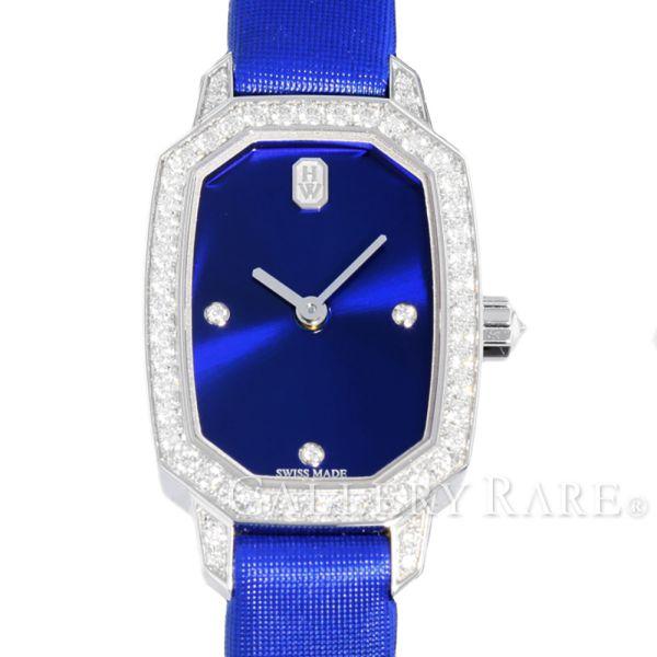 ハリーウィンストン エメラルド ブルー文字盤 K18WGホワイトゴールド ダイヤモンド EMEQHM18WW001 HARRY WINSTON 腕時計 レディース