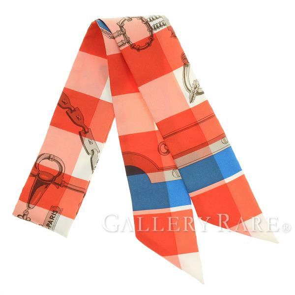 エルメス スカーフ ツイリー シルクツイル モール・エ・グルメット・ヴィシー Mors et Gourmettes Vichy HERMES シルクスカーフ 2018年春夏