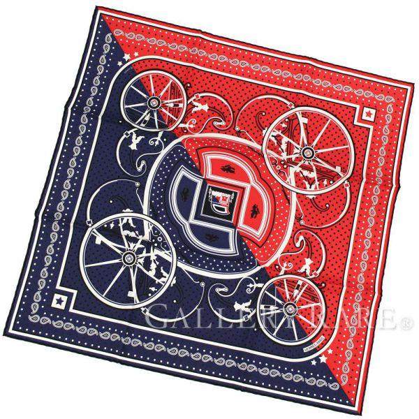 【最大3万円OFF★7/1(金) 0時~】 エルメス スカーフ カレ55 ジョージ・ワシントンの馬車・カット Washingtons Carriage Cut Bandana HERMES シルクスカーフ