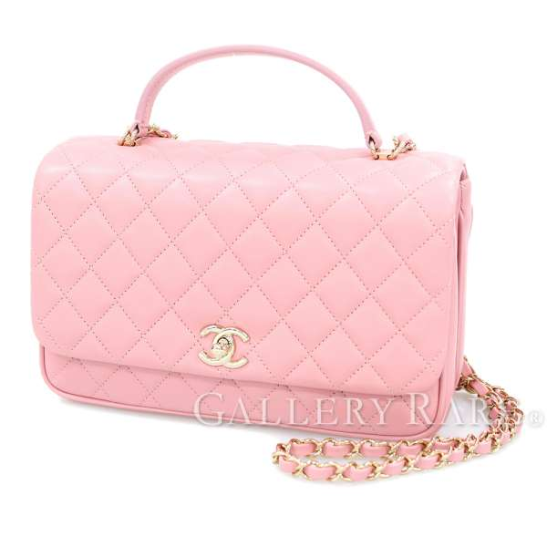 3c03b8f033 CHANEL Matelasse Lambskin Pink Handbag 2Way COCO A57043 Italy Authentic  4665694 ...