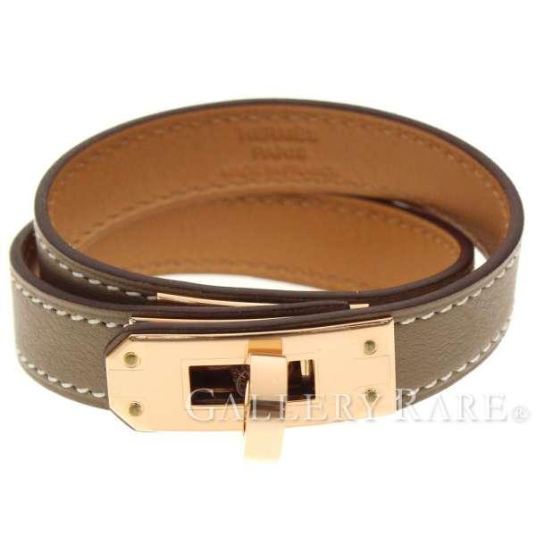 eccd2c27c1d ... sweden hermes bracelet kelly x pink gold metal fittings t2 c carved  seal hermes accessories two
