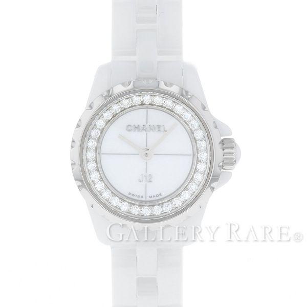 【最大3万円OFF★7/1(金) 0時~】 シャネル J12 XS 19mm ホワイトセラミック ダイヤモンド 0.27ct H5237 CHANEL 腕時計 ベゼルダイヤ レディース