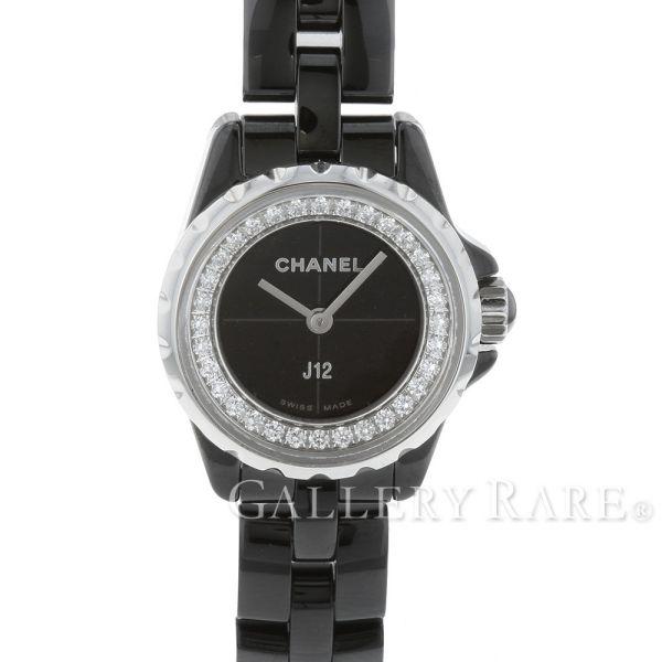シャネル J12 XS 19mm ブラックセラミック ダイヤモンド 0.27ct H5235 CHANEL 腕時計 ベゼルダイヤ レディース