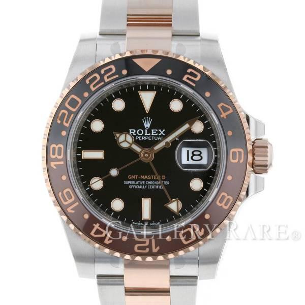 【最大3万円OFF★7/1(金) 0時~】 ロレックス GMTマスター2 デイト ランダムシリアル ルーレット 126711CHNR ROLEX 腕時計 エバーローズゴールド