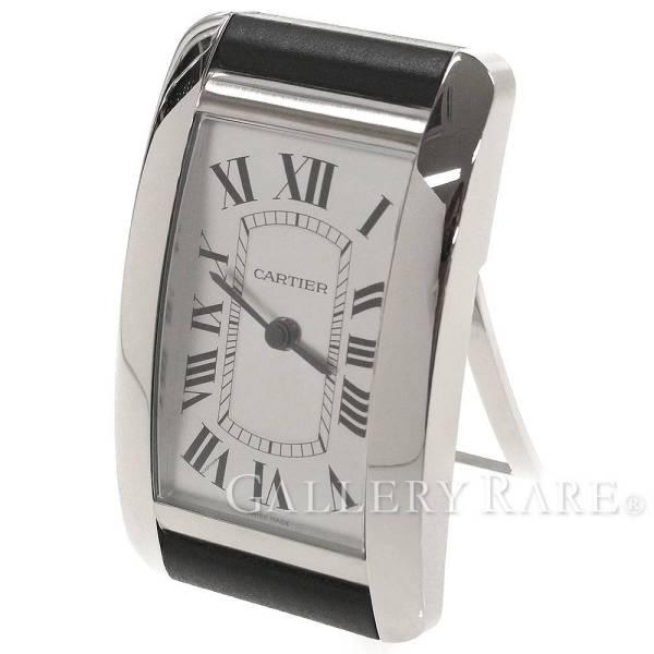 【サマーセール】カルティエ タンクアメリカン テーブルオクロック 置き時計 W0100141 Cartier 時計 クォーツ