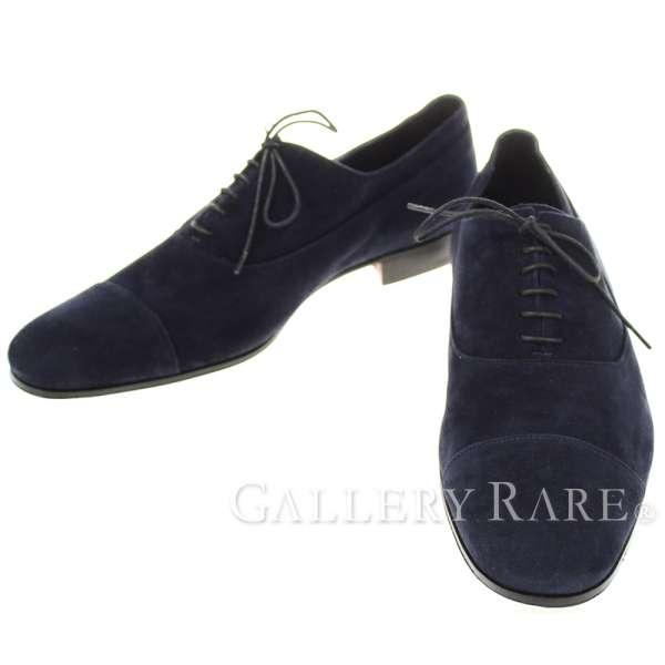 エルメス ローファー ネイビー スエード メンズサイズ42 1/2 HERMES ビジネスシューズ 靴【安心保証】【中古】