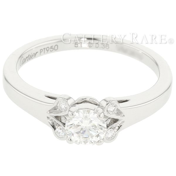 Gallery Rare Cartier Ballerine Solitaire Wedding Band Ring Diamond