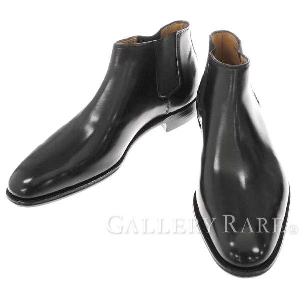 エルメス ブーツ ビジネスブーツ サイドゴア ブラック カーフレザー メンズサイズ42 1/2 HERMES 靴【安心保証】【中古】
